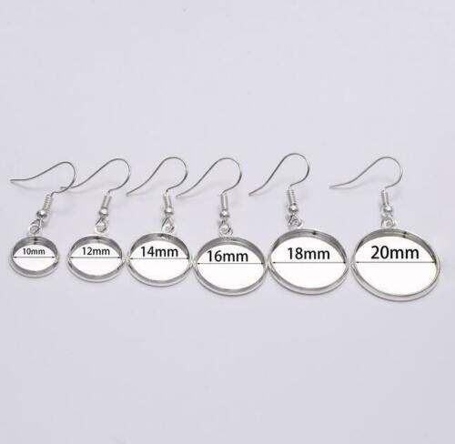 10pcs earrings round tray earrings blank round hook DIY earrings jewelry making