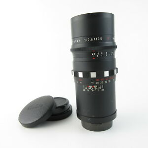 Fuer-Praktina-Meyer-Optik-Primotar-1-3-5-135-red-V-Objektiv-lens-15-blades-caps
