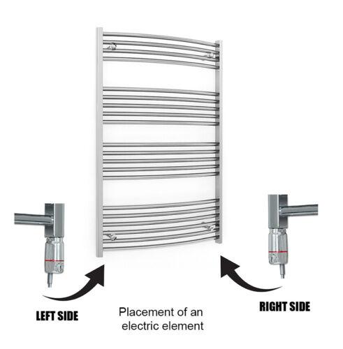 Elemento elettrico Termostatica cromata per radiatore riscaldatore elettrico Asciugamano