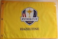 2016 Ryder Cup Hazeltine Flag Yellow Golf Pin Flag
