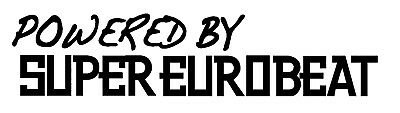 Powered by super eurobeat Funny Car//Window JDM  Vinyl Decal Sticker FREE POSTAGE