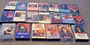 Lot-of-20-ASSORTED-COUNTRY-CASSETTES-TESTED