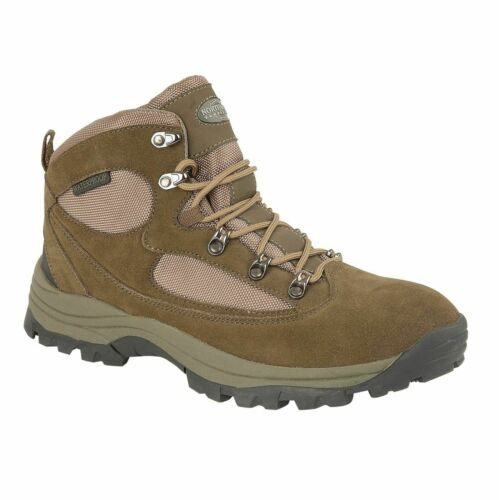 Mens Waterproof Boots Hiking Trail Real Genuine Leather Lace Up Campaign Shoes