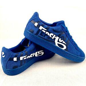 Détails sur Puma Daim Classique Pepsi Argent 366332 01 Femmes Chaussures Baskets Bleu Blanc