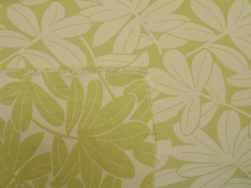 Reversible Sage and cream LARGE Woven Leaves Branches Upholstery Drapery Fabric