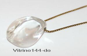 45,7/cm Silberne Halskette mit nat/ürlichem Kristall mit heilender Wirkung f/ür das Chakra ca
