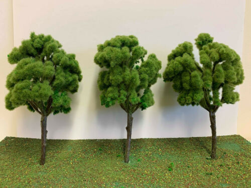 Model Tree Railway Scenery Wargame Terrain Light Green Large Copse Trees 19cm
