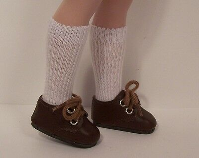 "Debs BROWN Strappy Sandals Doll Shoes For Tonner 14/"" Betsy McCall"