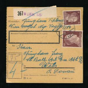 Paket-Karte 1944 aus Wien 110 (H48)