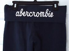 ABERCROMBIE KIDS Navy Blue Embroidered Moose Logo Yoga Stretch Pants Girls Large