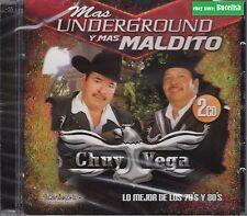 Chuy Vega Mas Underground y Mas Maldito 2CD Lo Mejor de Los 70's y 80's 2CD New