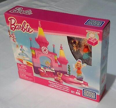 Mega Bloks Barbie Rainbow Princess Castle Girls Spin and Twirl Kit 81 Pieces