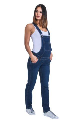 Maternity Dungarees Darkwash Denim Blue Pregnancy Overalls Maternity Fashion