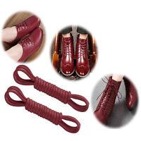 1 Pair Fashion Round Cord Canvas Shoes Sport Unisex Shoelaces Shoe String Strap