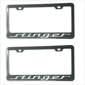 2x Carbon Fiber Stinger License Plate Holder Cover Frame