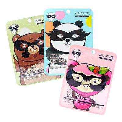 [MILATTE] Fashiony Black Eye Mask-Raccoon/Panda/Bear 3Set rinishop