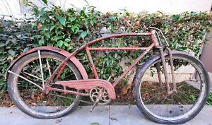 Prewar Monark 5 Bar Bicycle Rare Vintage Firestone Springer Fork Balloon tire