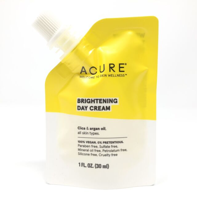 Acure Brightening Day Cream 1oz/30ml Travel Pouch