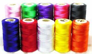25 Farbe Spulen Feinste Qualität Nähen Allzweck 100/% Rein Baumwollfaden Walzen