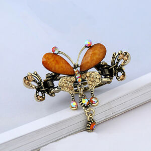 Lovely-Butterfly-Barrette-Crystal-Bow-Hair-Clip-Hair-Pins-Women-Hair-Jewelry