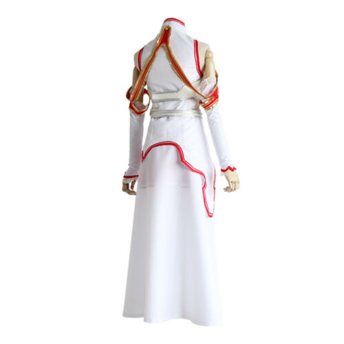 Sword Art Online Asuna Yuuki Uniform Top Dress Battle Full Set Cosplay Costume