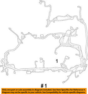 FORD-OEM-11-12-Escape-2-5L-L4-Wiring-Harness-Wire-Harness-BM6Z14290V