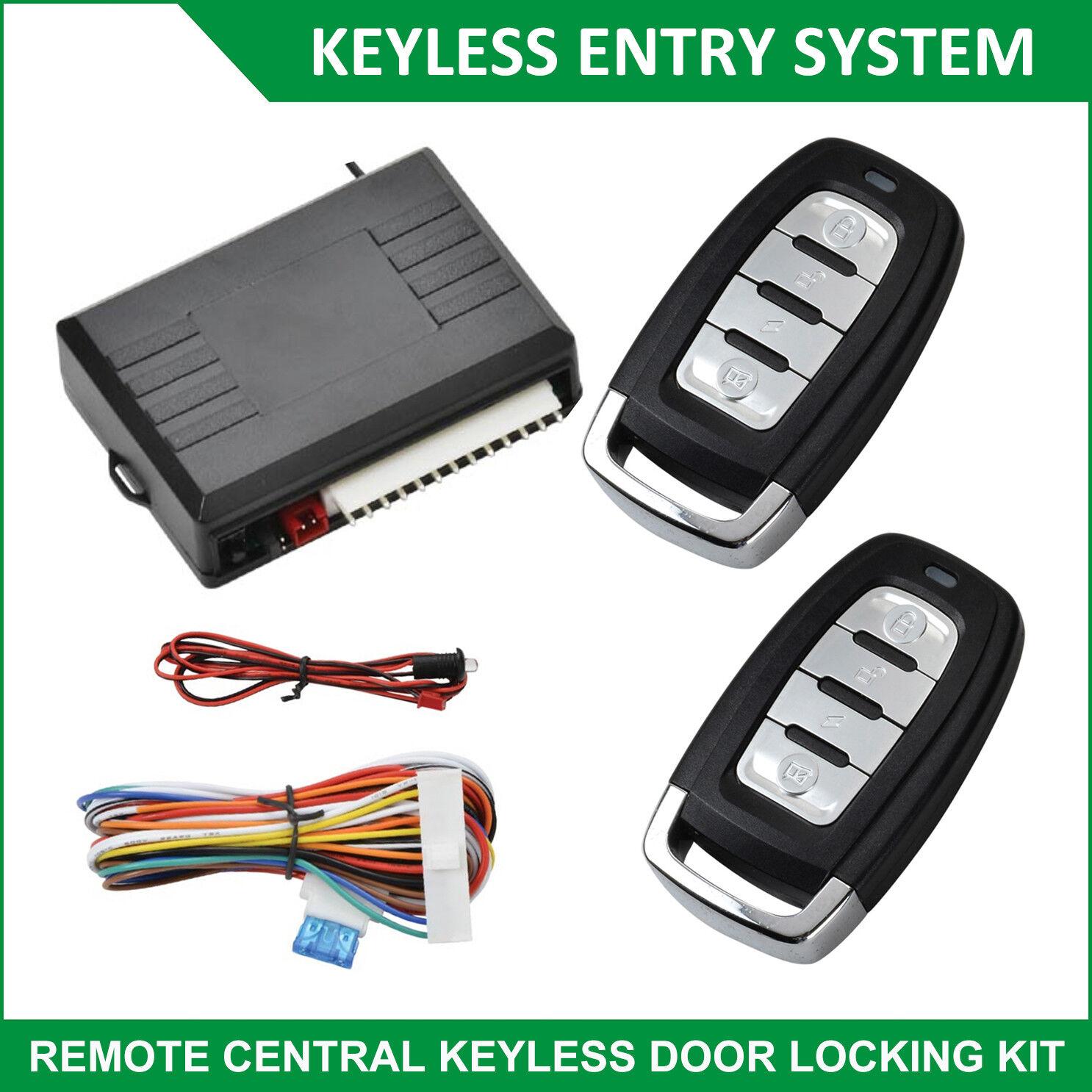 Universal Car Central Door Locking Vehicle Keyless Entry System Kit