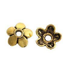 100x perlas tapas perlkappen remates filigrana flores para 12 mm perlas metal