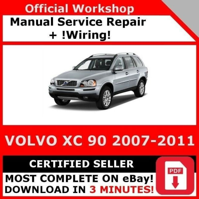WIRING *WORKSHOP MANUAL SERVICE & REPAIR GUIDE for VOLVO XC90 2007 ...