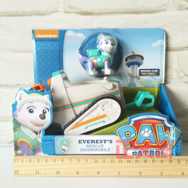 works With Paw Paw Patrol Everest/'s Rescue Snowmobile Vehicle And Figure