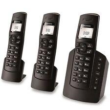 Grundig D150A Trio Schnurlos 3 Mobilteile Set LCD Display Anrufbeantworter TOP.