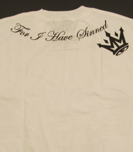 MAFIOSO CONFESSIONS T-shirt Forgive Me Father Tee Streetwear Men/'s White New