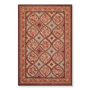 5-039-5-034-x-8-039-5-034-Hand-Hooked-French-Aubusson-100-Wool-Oriental-Area-rug-Burgundy