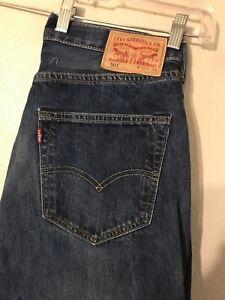 501 Levis Jeans droit Jeans Button Fly Hommes 32x33 Bdgxgq