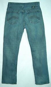 Whiskered-DIRT-WASH-Mid-Rise-Boot-Cut-VANS-Stitched-Pocket-Jeans-28-30