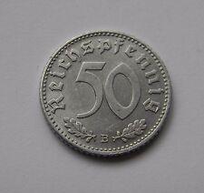 DRITTES REICH: 50 Reichspfennig 1940 B, J. 372, vorzüglich/prägefrisch