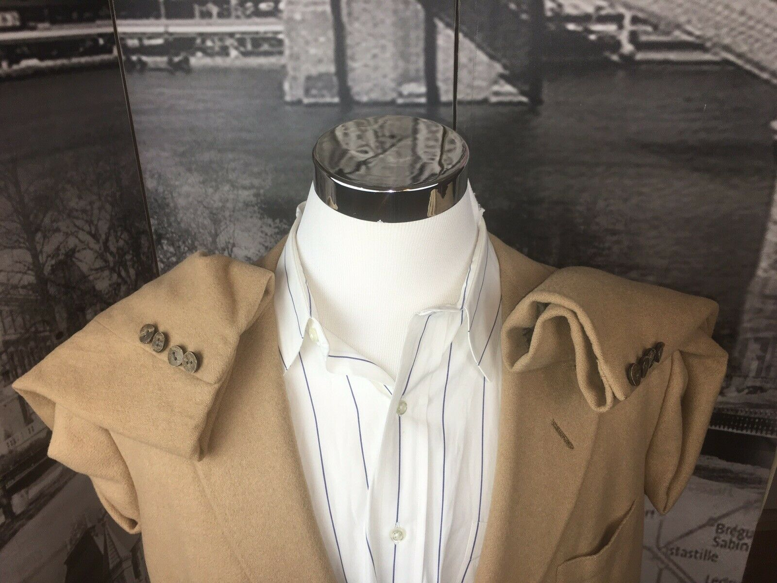 Oxford Clothes Paul Simon Men Sportcoat 46R Camel… - image 2