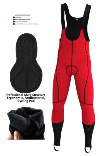Radsport Windstopper Thermo Gepolstert Latzhose Fahrrad Winter Leggings Hose
