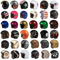 Torc T50 Open Face 3/4 Motorcycle Helmet Dot Cafe Racer Retro Vintage