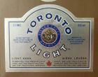 VINTAGE CANADIAN BEER LABEL - SLEEMAN BREWERY, TORONTO LIGHT BEER 12 FL OZ