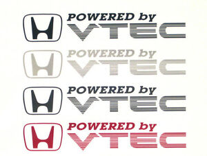 x2 Powered by VTEC Door Decals//Stickers for Civic//CRX//Integra
