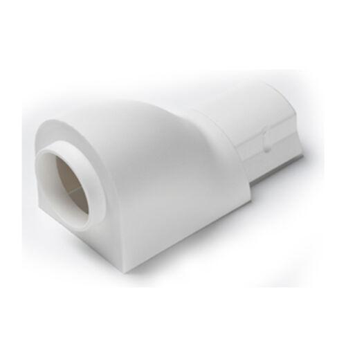 Trunking circulaire Conduit Rangé Tube 30x15mm Entrée//Sortie point glande Adaptateur