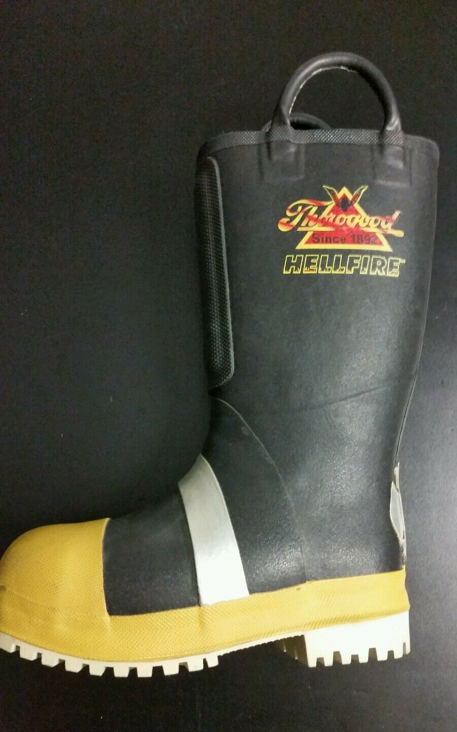 THgoldGOOD HELLFIRE BOOTS RUBBER INSULATED FELT WITH LUG SOLE