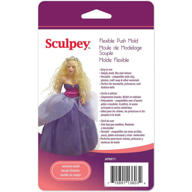 Sculpey Flexible Clay Push Mold - Woman Doll (#APM71)
