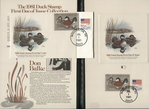USA-Scott-RW48-1981-Migratory-Bird-Hunting-Duck-Stamp-FDC-First-Day-Cover