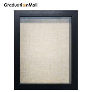 Graduationmall-8x8-8x10-11x14-SHADOW-BOX-cadre-bois-vitrine-LINEN-BACK