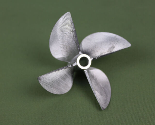 """Rc Propeller CNC Machined 4 blades Alloy 6717 For 6.35mm 1/4"""" Prop Shaft Rc Boat"""