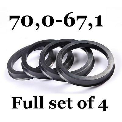 Set 4x Spigot Rings 70,1-60,1 Car Alloy Wheel Hub centric spacer 70.1 to 60.1 mm