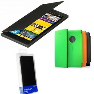 sports shoes 388ad b1aa4 Details about Genuine Nokia Lumia 830 WIRELESS CHARGING FLIP CASE original  mobile phone cover