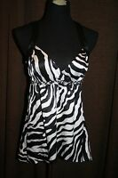 With Tagsthree Pink Hearts Zebra Size Medium Summer Top